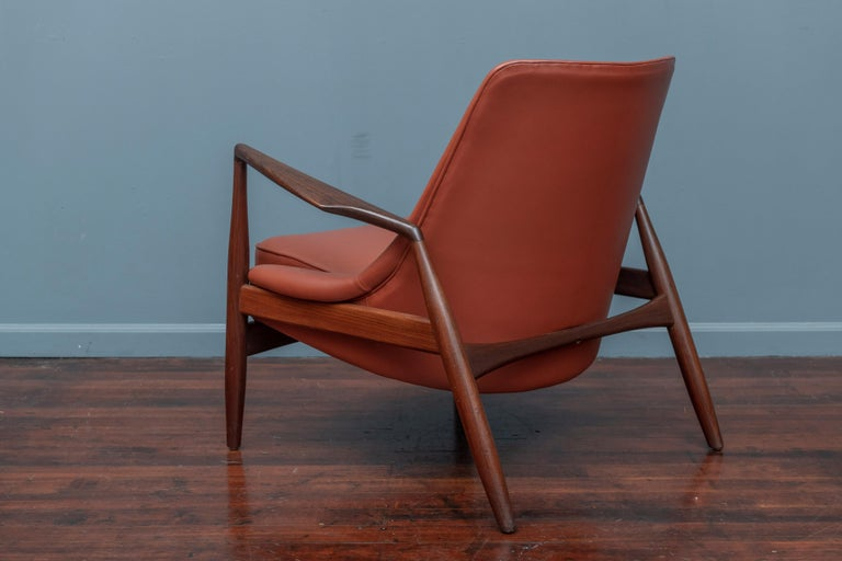 Leather Ib Kofod-Larsen Seal Chair for OPE, Denmark For Sale