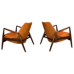 Ib Kofod-Larsen, Seal Chairs in Afromosia Wood, 1956