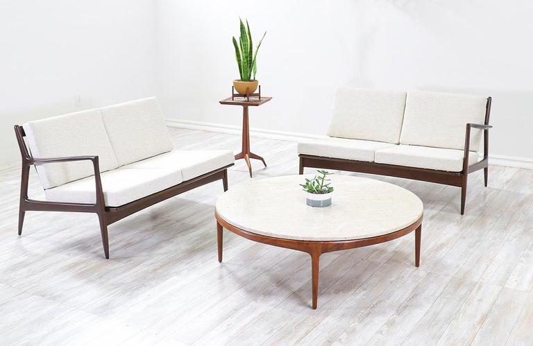 Ib Kofod-Larsen sectional sofa or loveseats for Selig.