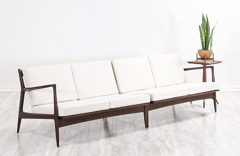 Danish Ib Kofod-Larsen Sectional Sofa or Loveseats for Selig For Sale