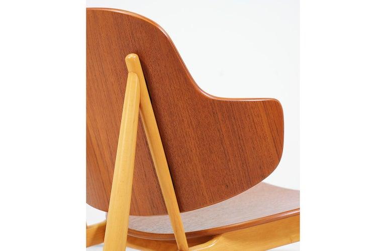 Ib Kofod-Larsen Shell Chair for Christiansen & Larsen For Sale 3