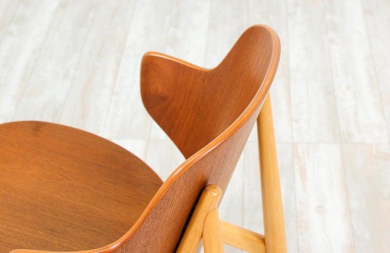 Wood Ib Kofod-Larsen Shell Chair for Christiansen & Larsen For Sale