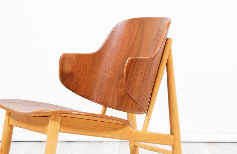 Ib Kofod-Larsen Shell Chair for Christiansen & Larsen For Sale 2