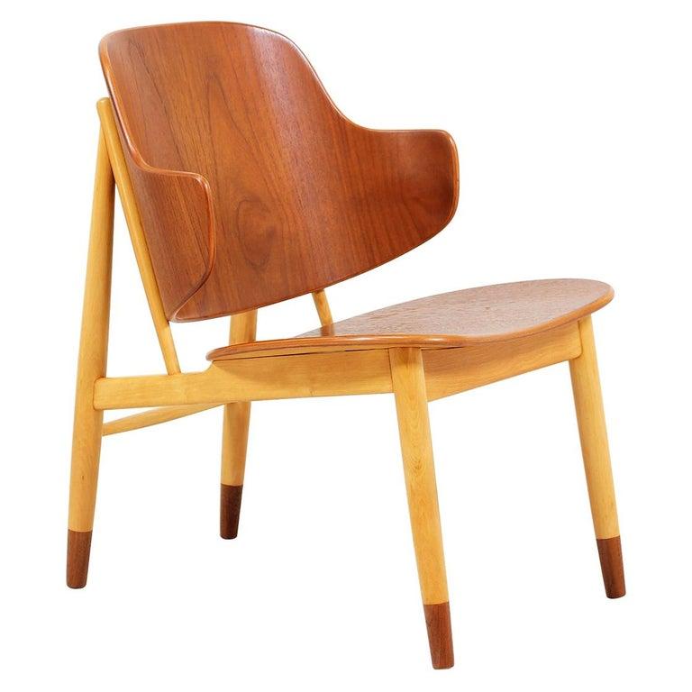 Ib Kofod-Larsen Shell Chair for Christiansen & Larsen For Sale