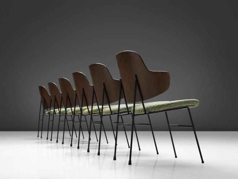Danish Ib Kofod-Larsen Six Penguin Dining Chairs