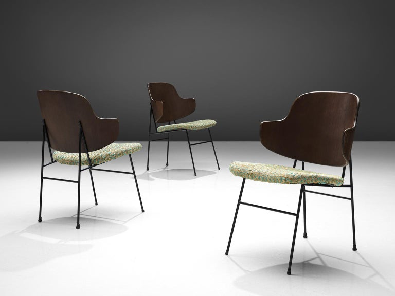 Mid-20th Century Ib Kofod-Larsen Six Penguin Dining Chairs