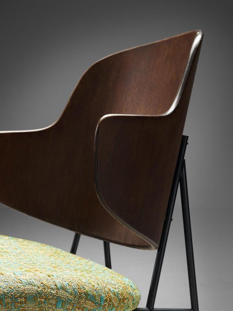 Metal Ib Kofod-Larsen Six Penguin Dining Chairs