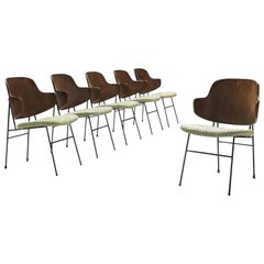 Ib Kofod-Larsen Six Penguin Dining Chairs