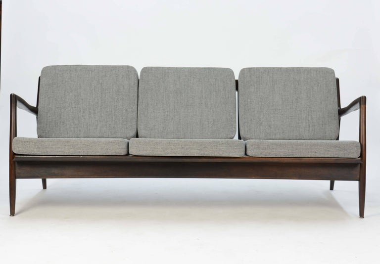 Ib Kofod-Larsen Sofa for Selig of Denmark with the Flair Arms and Diamond back For Sale 5