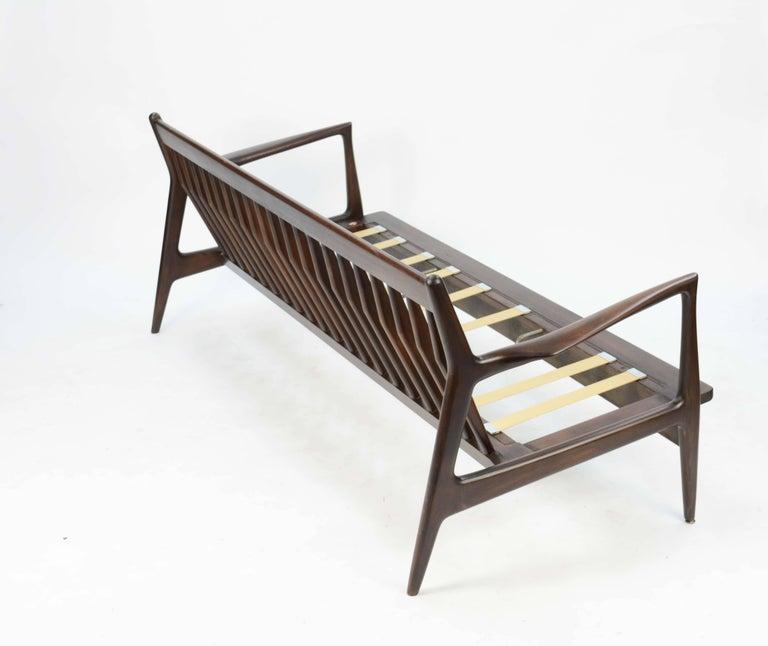 Scandinavian Modern Ib Kofod-Larsen Sofa for Selig of Denmark with the Flair Arms and Diamond back For Sale