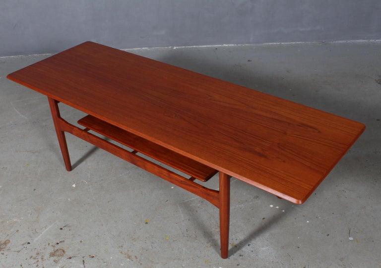 Ib Kofod-Larsen sofa table in partly solid teak.  Made by Christensen & Larsen.