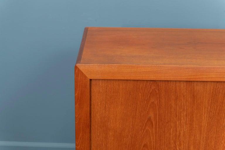 Mid-20th Century Ib Kofod-Larsen Tambour Door Teak Credenza For Sale