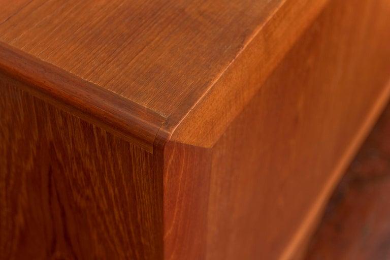 Ib Kofod-Larsen Tambour Door Teak Credenza For Sale 1