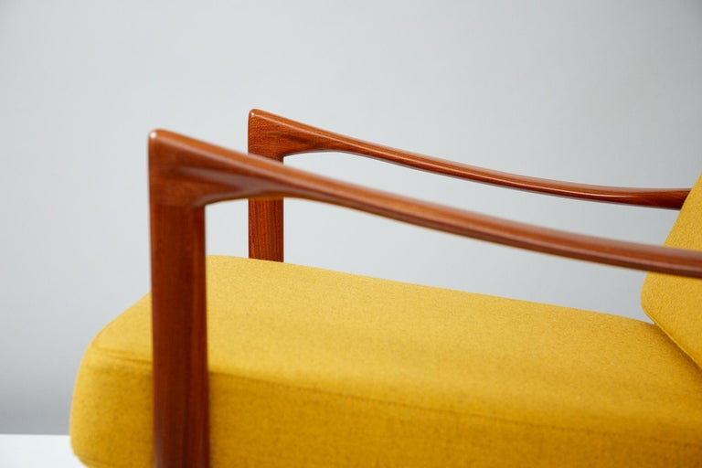 Wool Ib Kofod-Larsen Teak Candidate Chair, circa 1960 For Sale