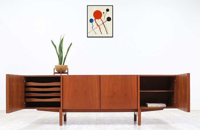 Mid-Century Modern Ib Kofod-Larsen Teak Credenza for Faarup Møbelfabrik For Sale