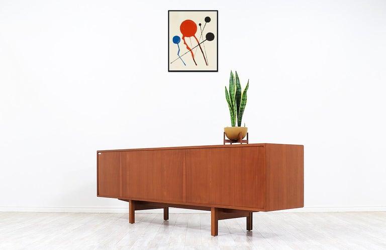 Mid-20th Century Ib Kofod-Larsen Teak Credenza for Faarup Møbelfabrik For Sale
