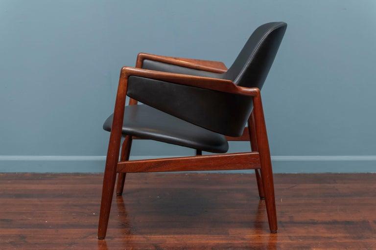 Danish Ib Kofod-Larsen Teak Lounge Chair for Christensen & Larsen For Sale