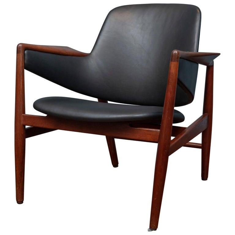 Ib Kofod-Larsen Teak Lounge Chair for Christensen & Larsen For Sale