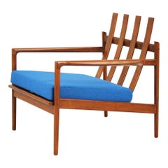 Ib Kofod-Larsen Walnut Lounge Chair for Selig