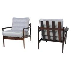 IB Kofoed Larsen Rosewood Lounge Chairs