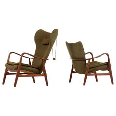 Ib Madsen & Acton Schubell Easy Chairs Produced by Madsen & Schubell in Denmark