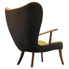 Ib Madsen & Acton Schubell 'The Prag Chair' Lounge Chair in Green Fabric