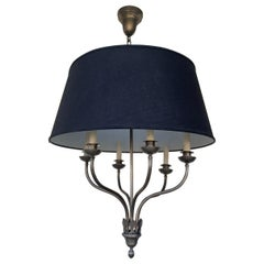 Ibex Chandelier in Burnished Nickel by Remains Lighting