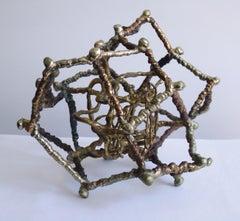 Ibram Lassaw, Gyre 2, bronze sculpture, 1995