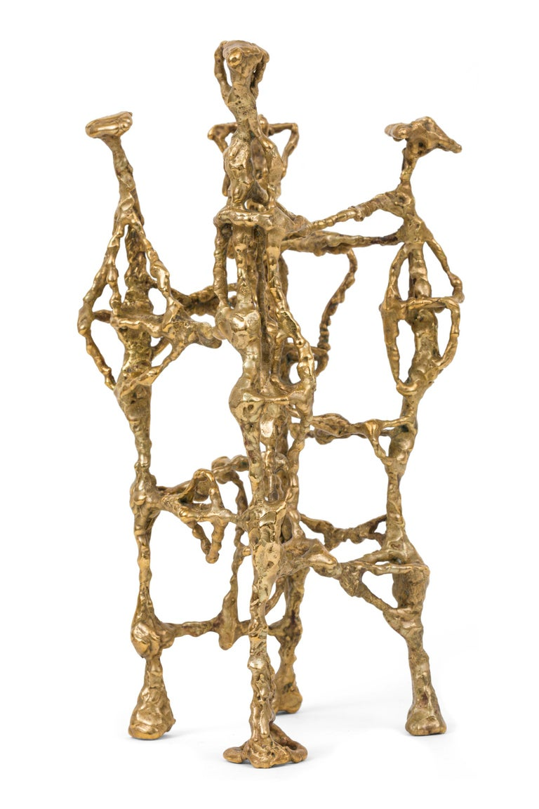 American Ibram Lassaw Welded Bronze Abstract Sculpture, USA, 1952 For Sale