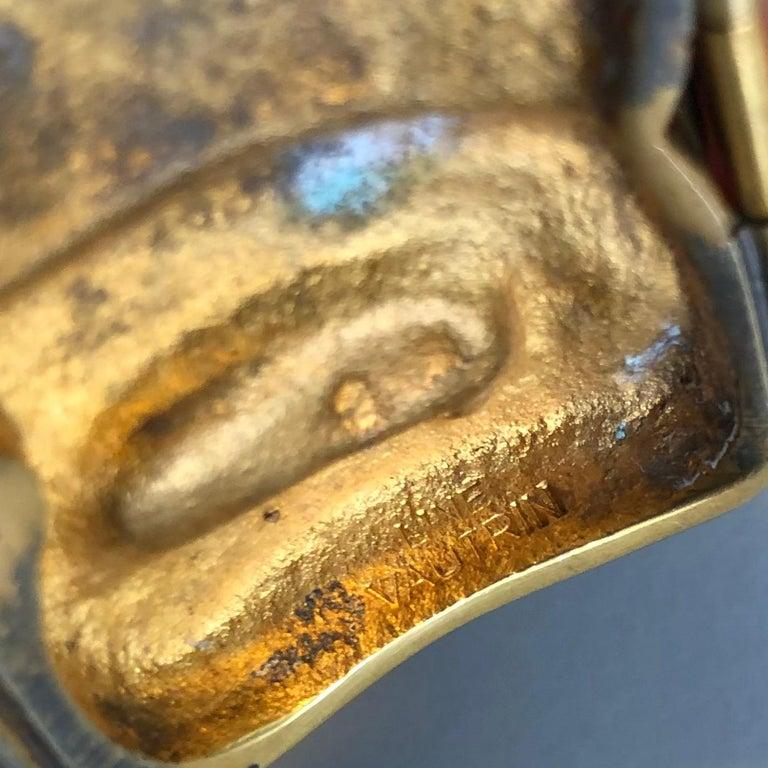 """Icare"" Gilded Bronze Bracelet, Line Vautrin 'France' For Sale 3"
