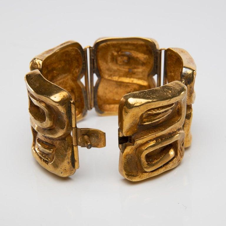 "Gilt ""Icare"" Gilded Bronze Bracelet, Line Vautrin 'France' For Sale"