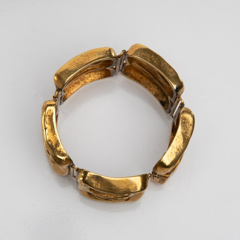 """""""Icare"""" Gilded Bronze Bracelet, Line Vautrin 'France' In Good Condition For Sale In Brussels, BE"""