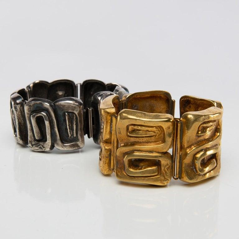 """Icare"" Gilded Bronze Bracelet, Line Vautrin 'France' For Sale 2"