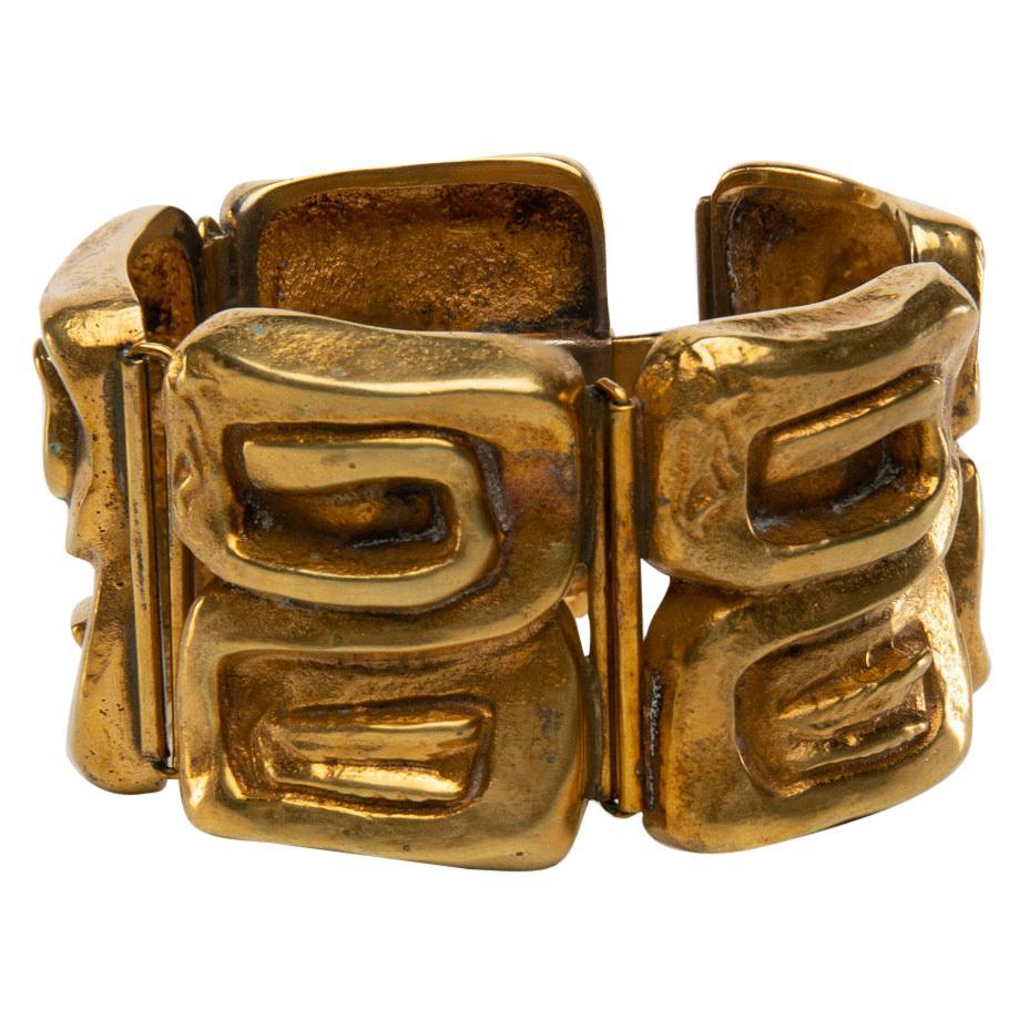 """""""Icare"""" Gilded Bronze Bracelet, Line Vautrin 'France'"""