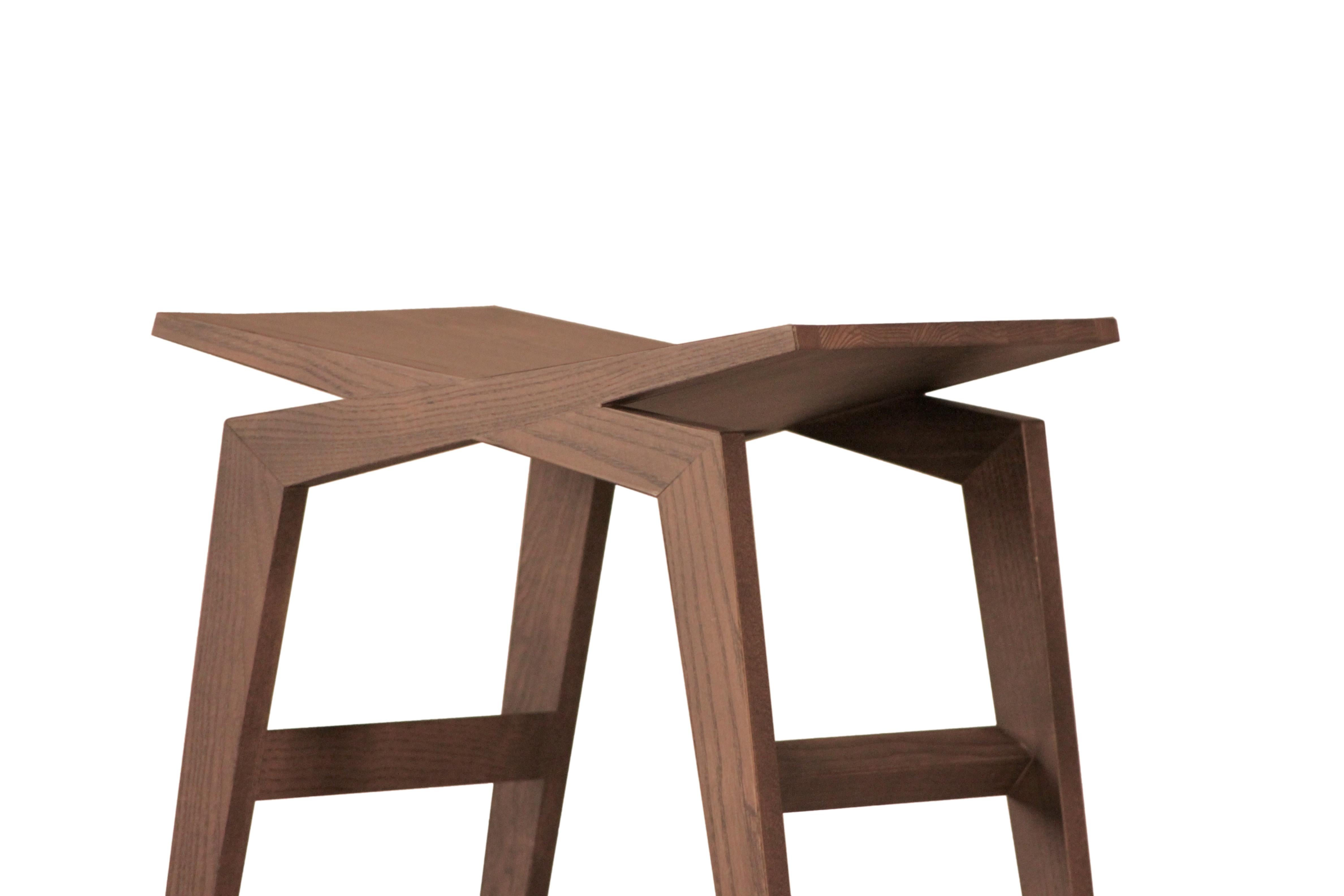 Icaro contemporary bar stool made of solid ashwood for sale at 1stdibs