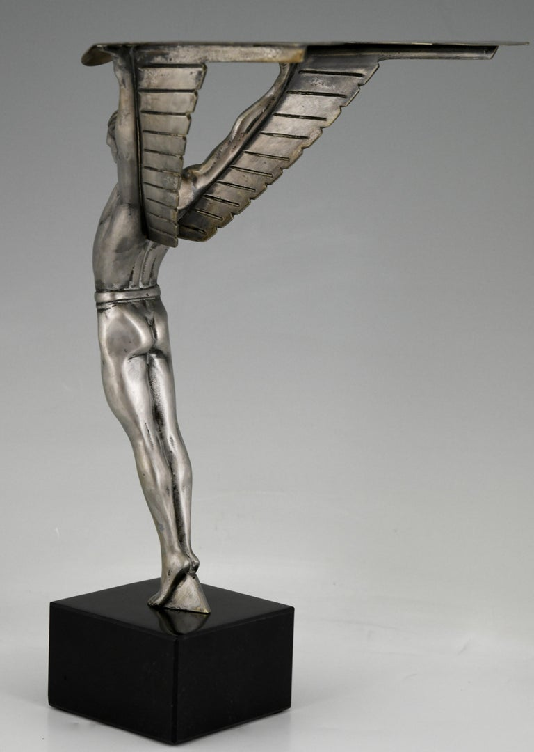Mid-20th Century Icarus Art Deco Bronze Sculpture of a Winged Athlete Style of Schmidt Hofer For Sale