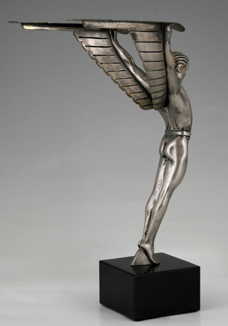 Icarus Art Deco Bronze Sculpture of a Winged Athlete Style of Schmidt Hofer For Sale 2