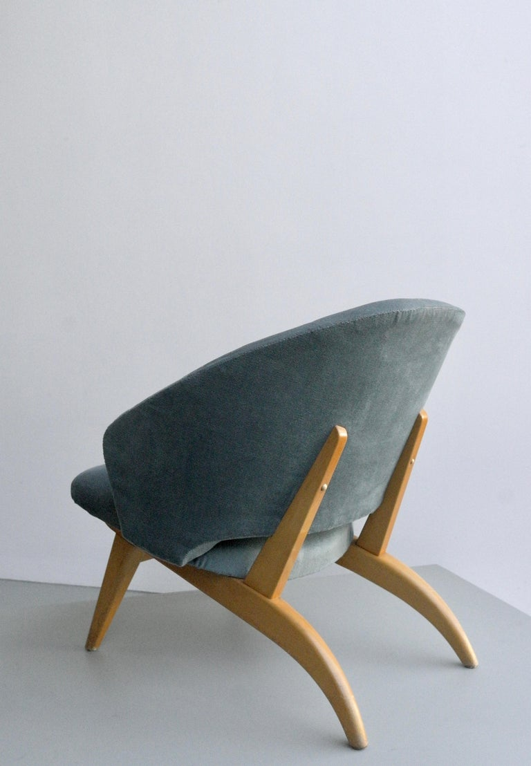 Ice blue lounge chair by Theo Ruth for Artifort, Netherlands, 1950s.