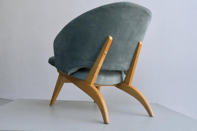 Mid-Century Modern Ice Blue Lounge Chair by Theo Ruth for Artifort, Netherlands, 1950s For Sale