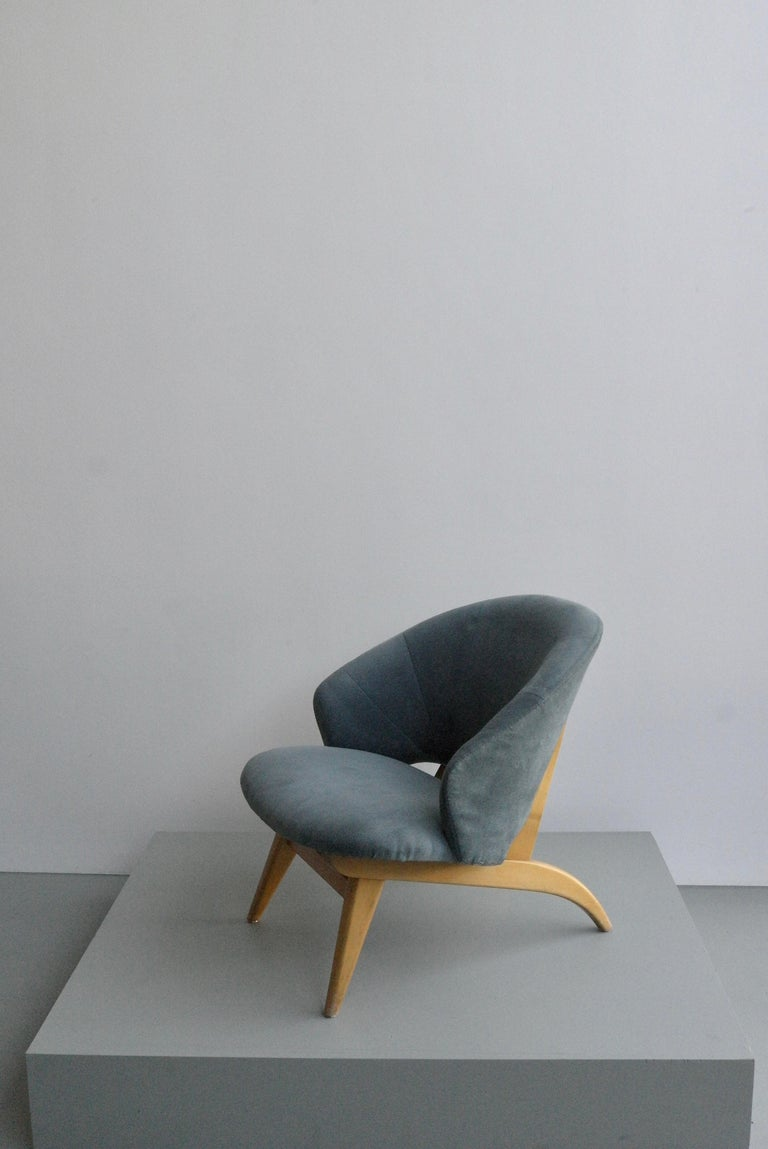 Ice Blue Lounge Chair by Theo Ruth for Artifort, Netherlands, 1950s In Good Condition For Sale In The Hague, NL