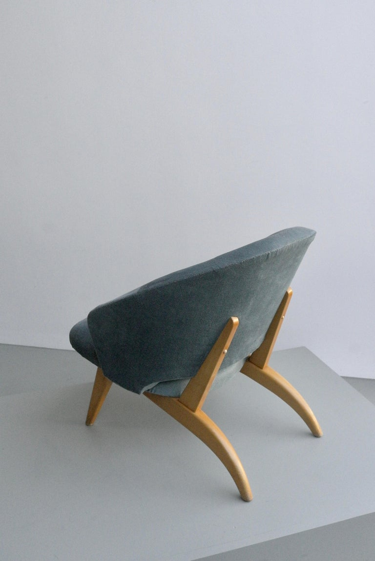 Mid-20th Century Ice Blue Lounge Chair by Theo Ruth for Artifort, Netherlands, 1950s For Sale