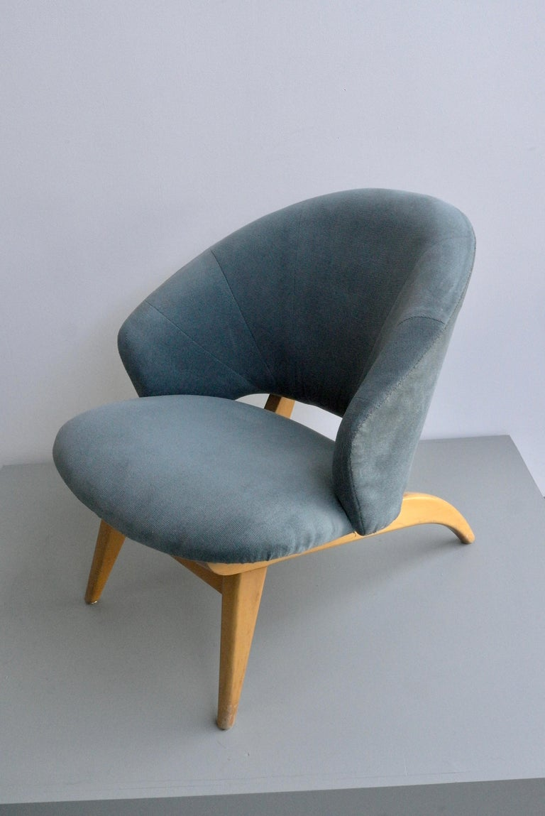 Ice Blue Lounge Chair by Theo Ruth for Artifort, Netherlands, 1950s For Sale 1