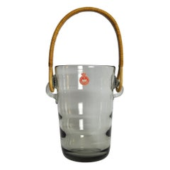 Ice Bucket with Cane Handle Designed by Jacob E. Bang for Holmegaard, 1937