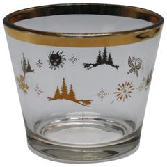 Ice Bucket with Four Season Gold Detailing, circa 1960