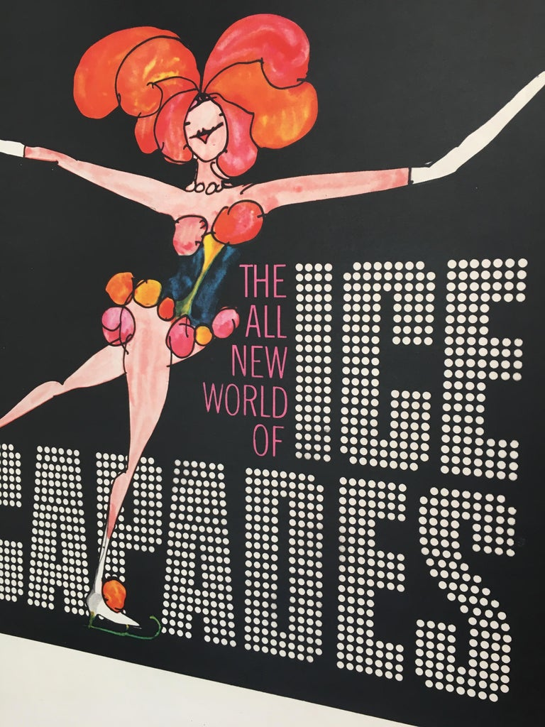 Ice Capades Entertainment Show Original Vintage Ice Skating Poster, 1969 In Good Condition For Sale In Melbourne, Victoria