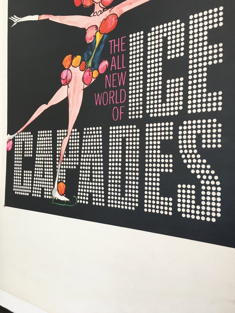 Paper Ice Capades Entertainment Show Original Vintage Ice Skating Poster, 1969 For Sale