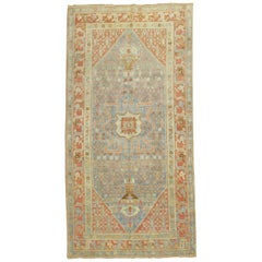 Ice Color Antique Malayer Light Blue Persian Rug
