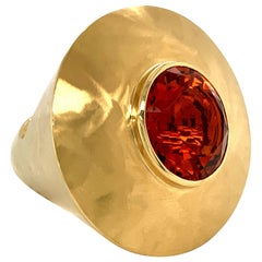 Georg Spreng - Ice Cream Cone Ring 18K Yellow Gold Natural Citrine Madeira orang