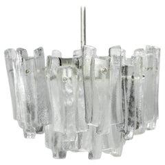 Ice Glass Chandelier, 1960, Kalmar Austria
