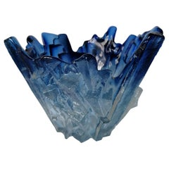 Ice Glass Vase by Tapio Wirkkala for Humppila, 1960s
